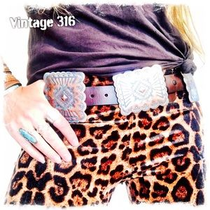 Authentic Leather Concho Belt